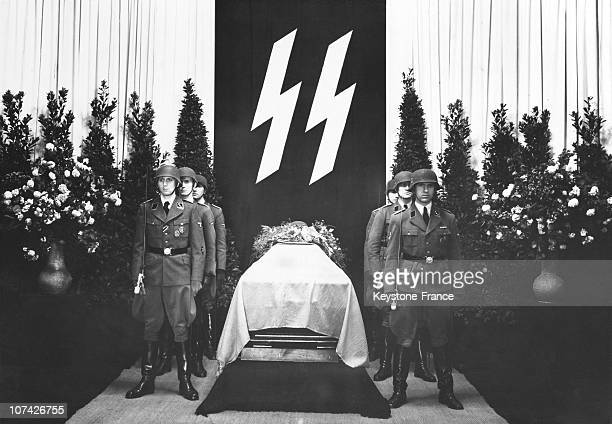 Funeral Of Richard Heidrich In Ss At Berlin In Germany On June 8Th 1942