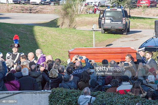 AMORE ROME ROME ITALY/ ROME ITALY Funeral of singer Pino Daniele at the Shrine of Divine Love near Rome Some hundreds of people and many...