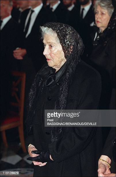Funeral of the Count of Paris in Dreux France on June 28 1999 Countess of Paris