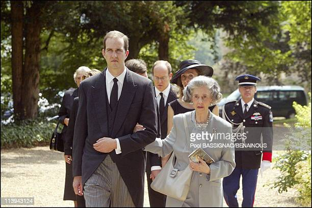 Funeral of the Countess of Paris in the Royal Chapel of Dreux France On July 11 2003Prince Eudes Queen Fabiola