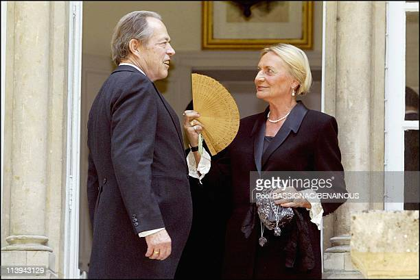 Funeral of the Countess of Paris in the Royal Chapel of Dreux France On July 11 2003Count of Paris and wife Michaela Cousino