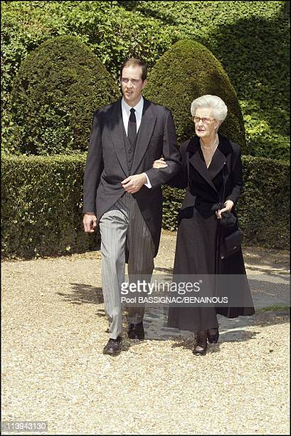 Funeral of the Countess of Paris in the Royal Chapel of Dreux France On July 11 2003Princes Eudes and mother MarieTherese of Wurtemberg
