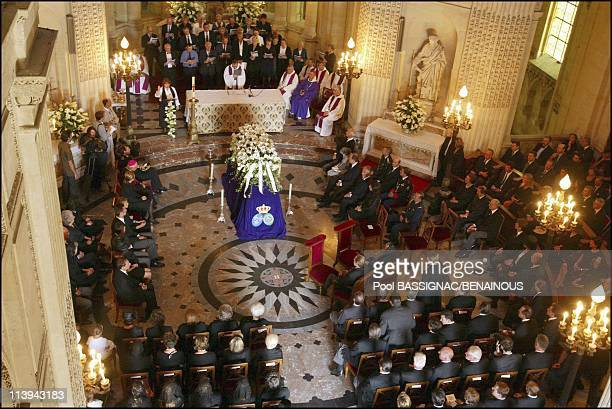 Funeral of the Countess of Paris in the Royal Chapel of Dreux France On July 11 2003