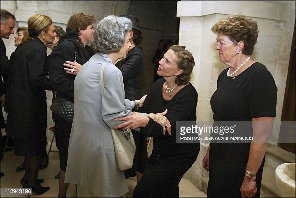 Funeral of the Countess of Paris in the Royal Chapel of Dreux France On July 11 2003Queen Fabiola Princess Helene of Orleans Princess Chantal of...