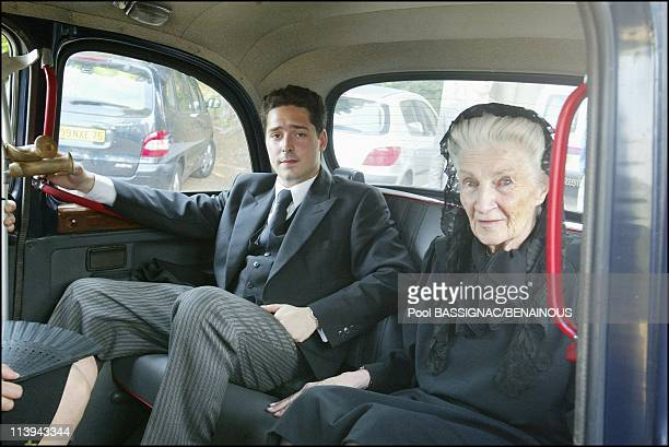 Funeral of the Countess of Paris in the Royal Chapel of Dreux France On July 11 2003Princess Therese of Orleans Bragance Countess of Paris' sister...