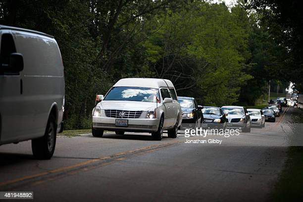 A Funeral Procession Arrives At Mt Glenwood Memorial Gardens West Cemetery For The Burial Of Sandra
