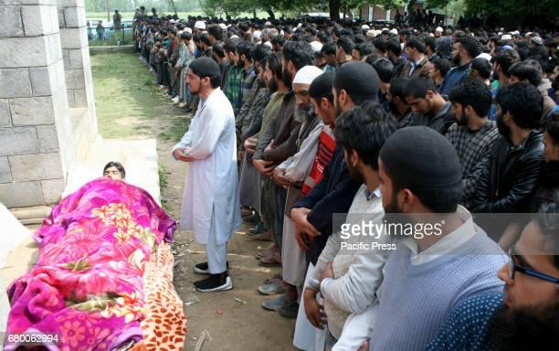 Funeral procession of slain Rebel Fayaz Ahmed Ashwar alais Setha from Reshipora Qaimohin Kulgam district of south KashmirFayaz was reportdly killed...