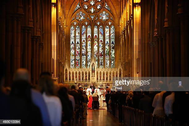 A funeral service is held for Curtis Cheng at St Mary's Cathedral October 17 2015 in Sydney Australia Police employee Curtis Cheng was shot outside...