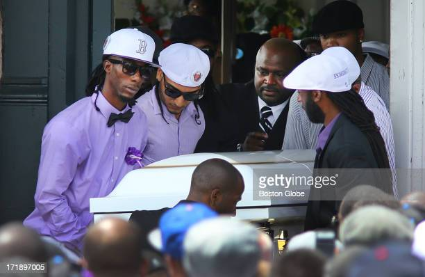 A funeral service was held for Odin Lloyd at the Holy Spirit Church in Mattapan Pallbearers carry out his casket Lloyd was allegedly shot to death by...