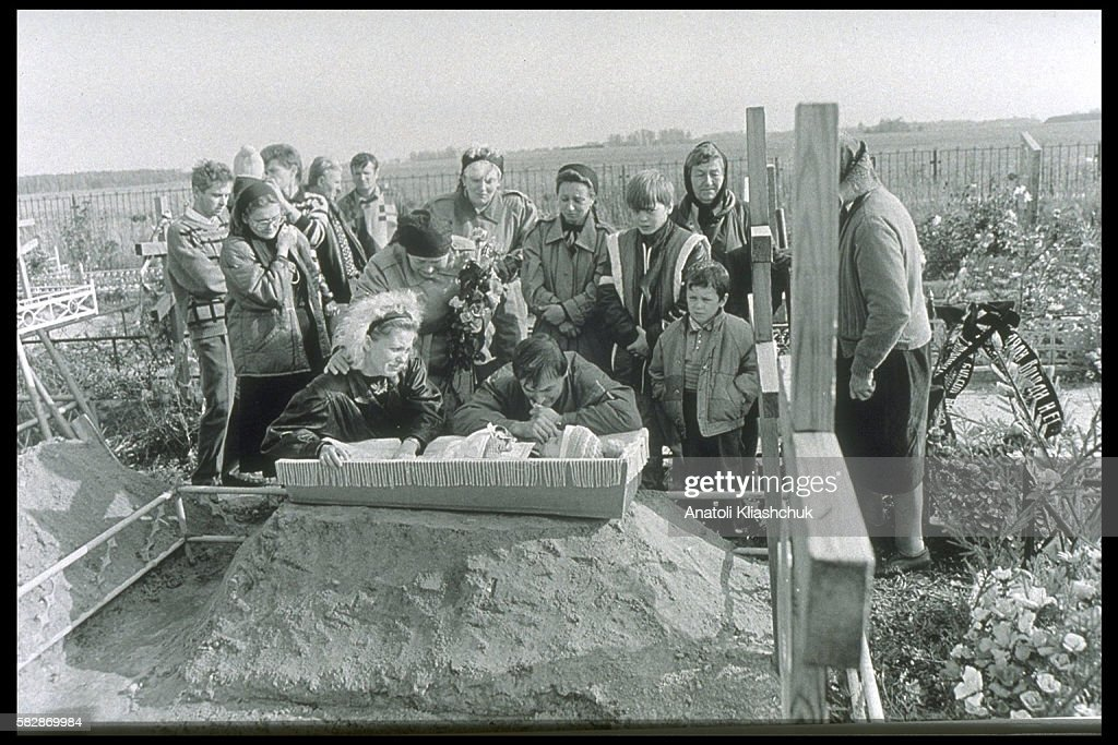 Funerals of Andreï aged 3 who died on May 1995 He suffered from cancer
