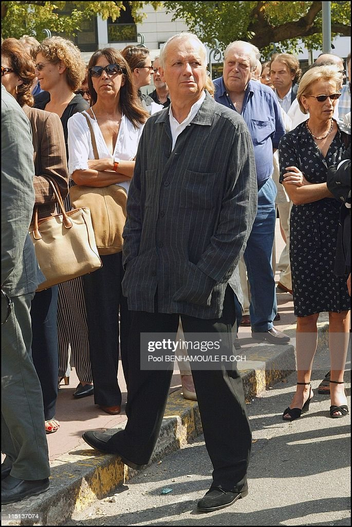 Funerals of Jacques Deray in Boulogne Billancourt, France on August 13, 2003 - Jean Marie Cavada.