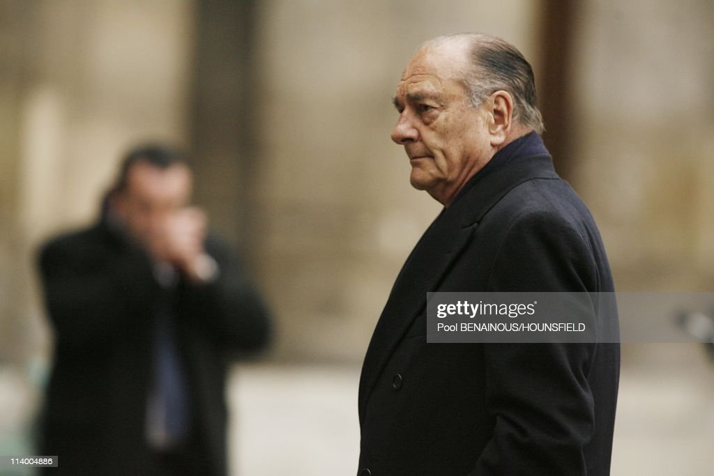 Funerals of Philippe Seguin at the Invalides In Paris, France On January 11, 2010-Jacques Chirac.