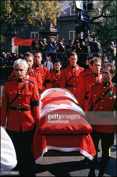 Funerals of Pierre Elliot Trudeau former canadian prime minister In Montreal Canada On September 30 2000In front of the city hall of Montreal