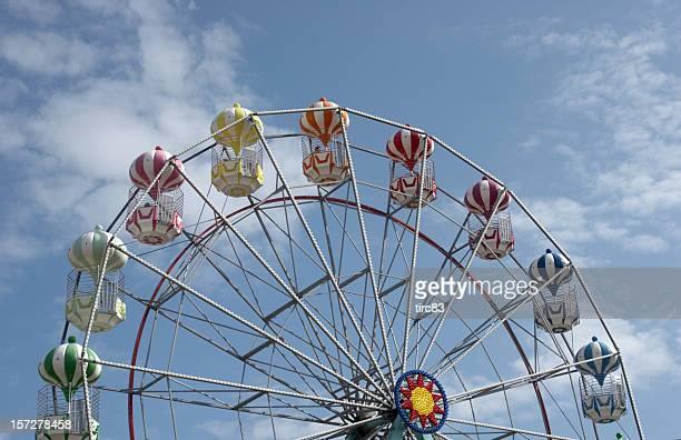 Funfair ride ferris wheel top