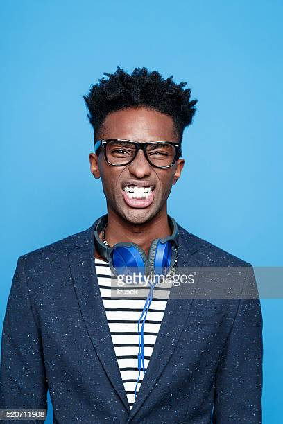 Clenching teeth photos et images de collection getty images - Coupe americaine homme ...