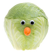 funny cabbage face