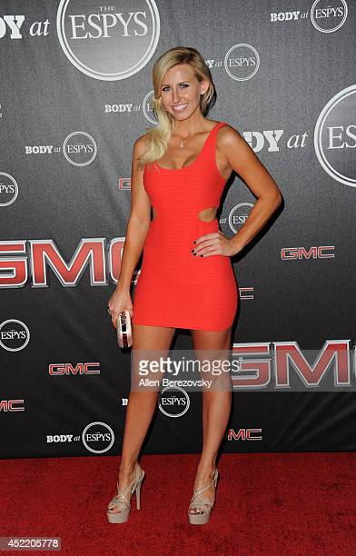 Funny car drag racer Courtney Force attends ESPN Presents BODY At ESPYS PreParty at Lure on July 15 2014 in Hollywood California