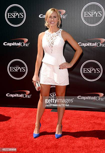 Funny car drag racer Courtney Force attends The 2014 ESPYS at Nokia Theatre LA Live on July 16 2014 in Los Angeles California