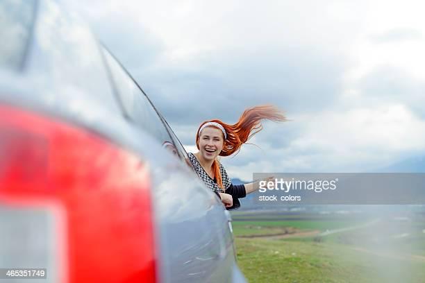 Lustiger Auto ride