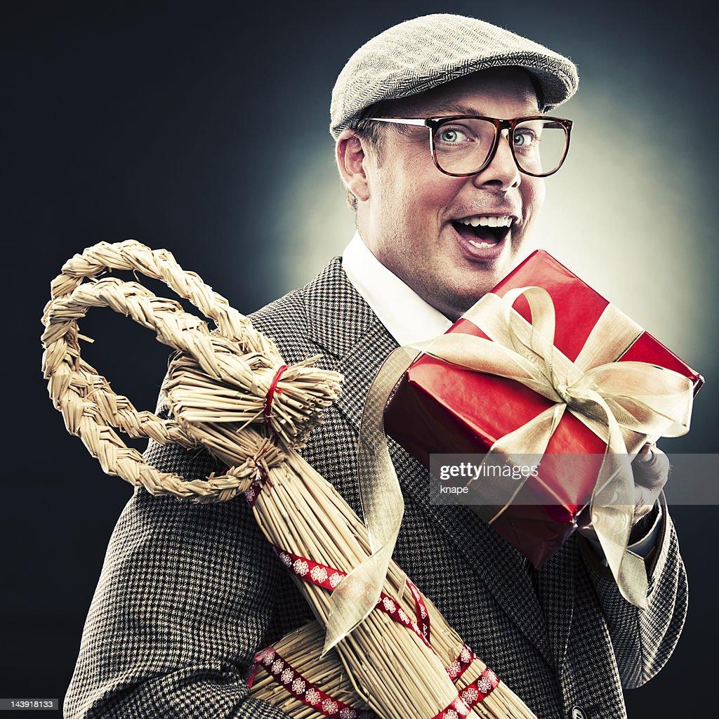 Engraçado homem de Natal : Foto de stock