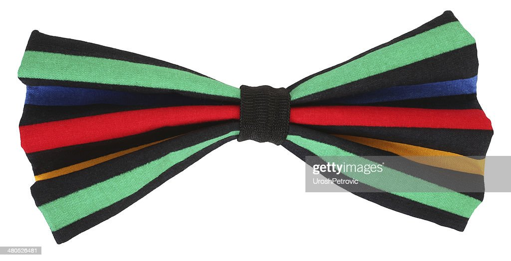 Funny colorful multicolor bow tie : Stock Photo
