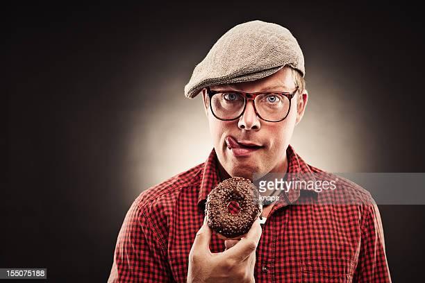 Funny donut man