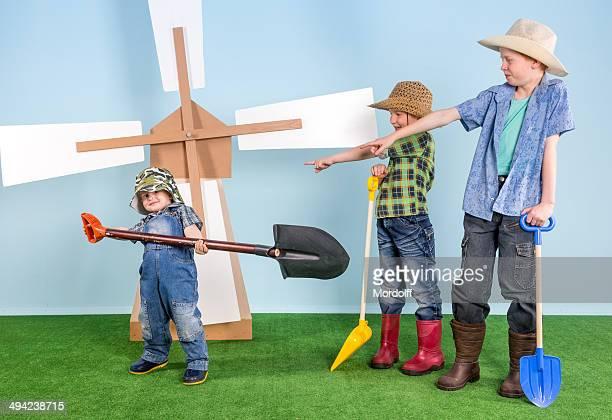 Lustiger family farm Jungen