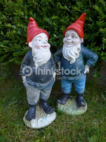 funny garden gnomes bild stock photo - Funny Garden Gnomes