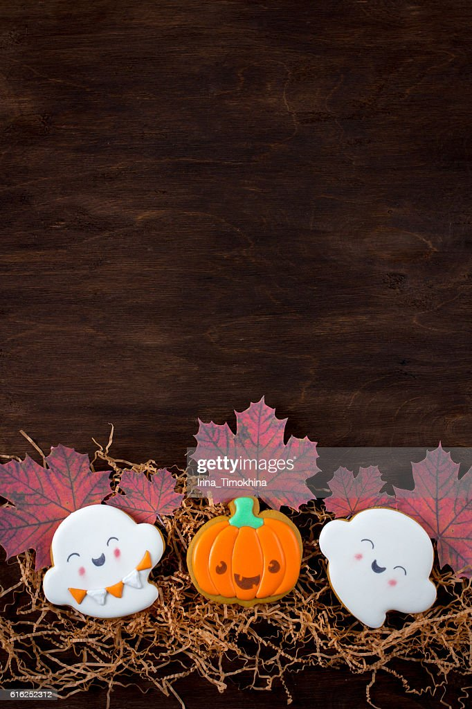 Funny gingerbread cookies for Halloween : Stock-Foto