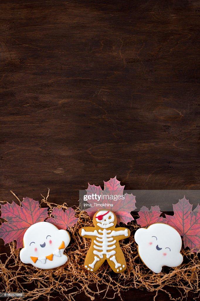 Funny gingerbread cookies for Halloween : Foto de stock