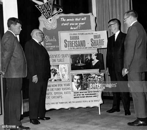 OCT 20 1968 'Funny Girl' Benefit Boosted John J Sullivan second from left honorary chairman with his wife of the Regis Mother's Club benefit showing...