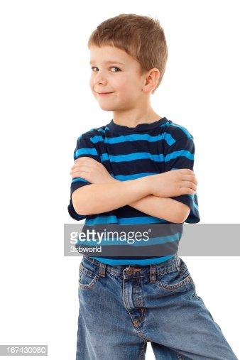 Engraçado rapaz : Foto de stock