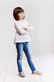 Funny little girl full length