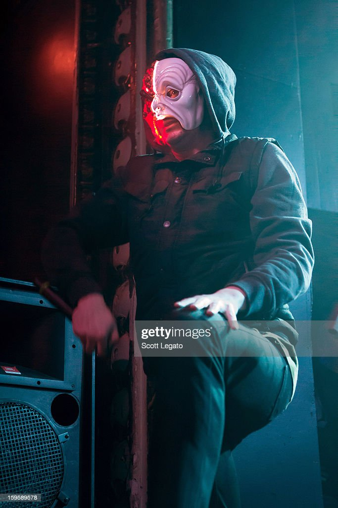 Funny Man of Hollywood Undead performs in concert at St. Andrew's Hall on January 16, 2013 in Detroit, Michigan.