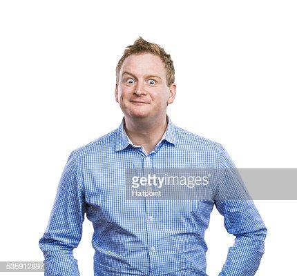 Engraçado Homem : Foto de stock