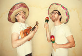 Funny Mariachi Band with Sombreros