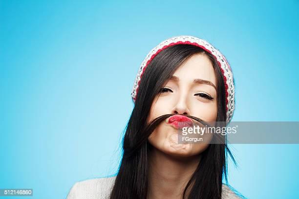 Lustige Schnurrbart