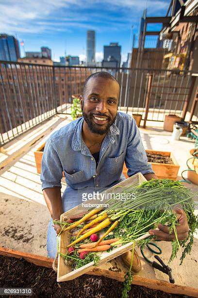Funny Portrait of Urban Gardener