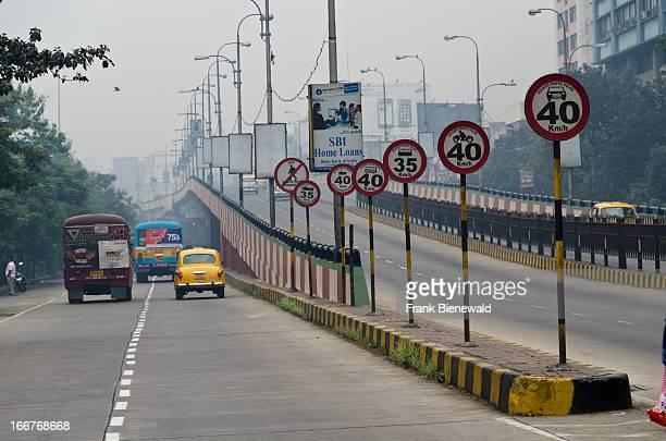 Funny signposts at a main Kolkata Road
