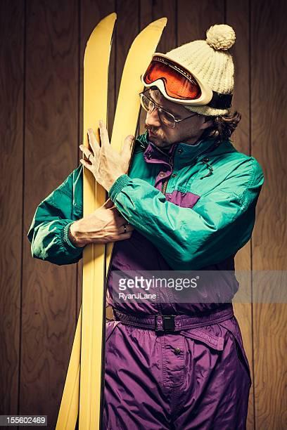 Funny Ski Bum in Lodge
