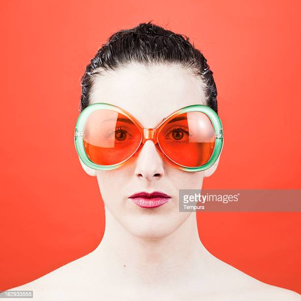 Funny sun glasses and eye protection.