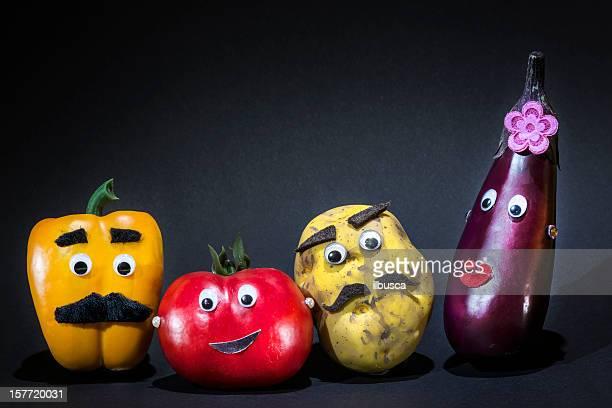 Lustige Gemüse