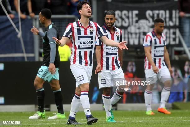 Funso Ojo of Willem II Anouar Kali of Willem IIduring the Dutch Eredivisie match between Willem II Tilburg and Ajax Amsterdam at Koning Willem II...