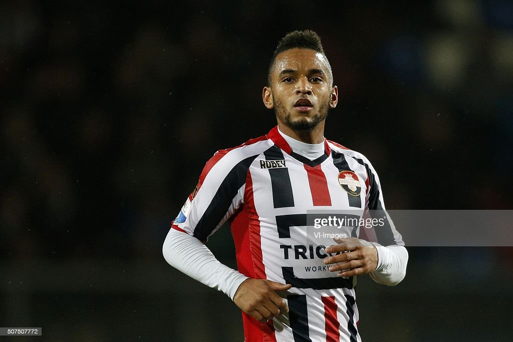 Funso Ojo of Willem II during the Dutch Eredivisie match between Willem II Tilburg and Heracles Almelo at Koning Willem II stadium on January 29 2016...