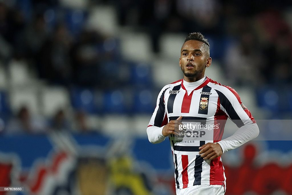 Funso Ojo of Willem II during the Dutch Eredivisie match between Willem II and Vitesse on august 6 2016 at the Koning Willem II stadium in Tilburg...