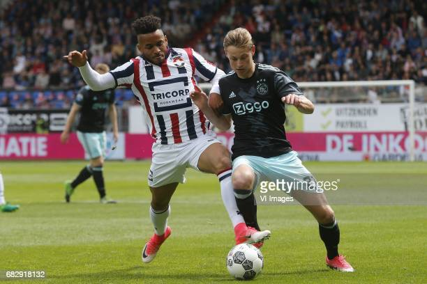 Funso Ojo of Willem II Frenkie de Jong of Ajaxduring the Dutch Eredivisie match between Willem II Tilburg and Ajax Amsterdam at Koning Willem II...