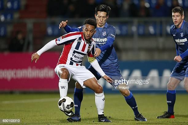 Funso Ojo of Willem II Yuki Kobayashi of SC Heerenveenduring the Dutch Eredivisie match between Willem II Tilburg and sc Heerenveen at Koning Willem...