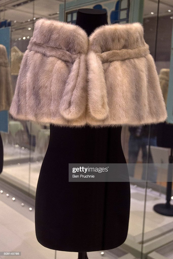 A fur coat by Norman Rogul as worn by Princess Margaret is displayed at the Fashion Rules Exhibition at Kensington Palace on February 9, 2016 in London, England. The exhibition, that re-opens to the public on February 11, contains pieces including the dress Queen Elizabeth II wore for her official Silver Jubilee photograph and a dress worn by Diana, Princess of Wales for her last official photo shoot with famed photographer Mario Testino