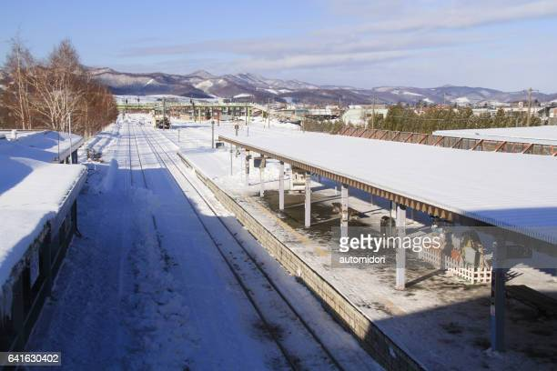 Furano Railroad Platform Seen from Above