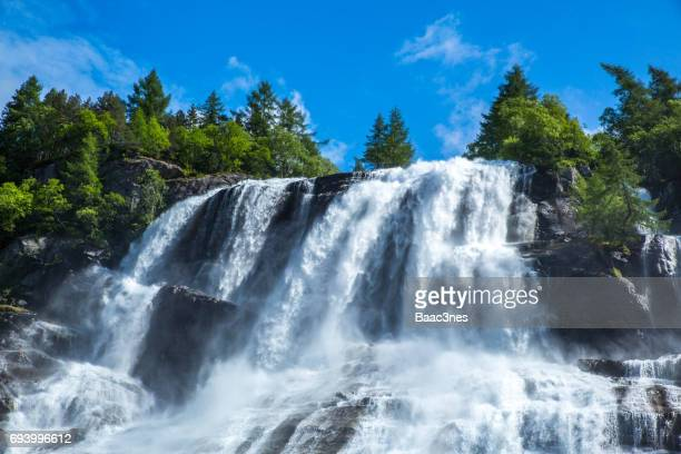 Furebergsfossen - Beautiful waterfall in Fureberg, Norway